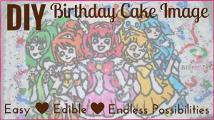 DIY Edible Birthday Cake Image