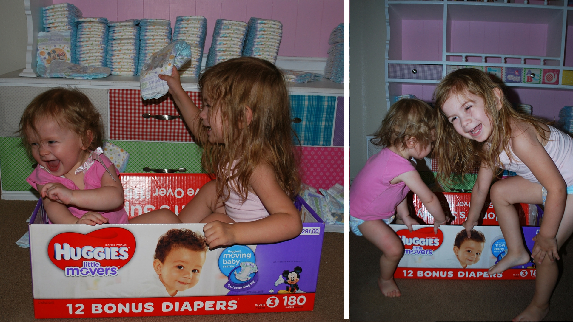 Through the climbing, playing and fun - Huggies Little Movers stay in place and keep them dry! EveryMomDay.com