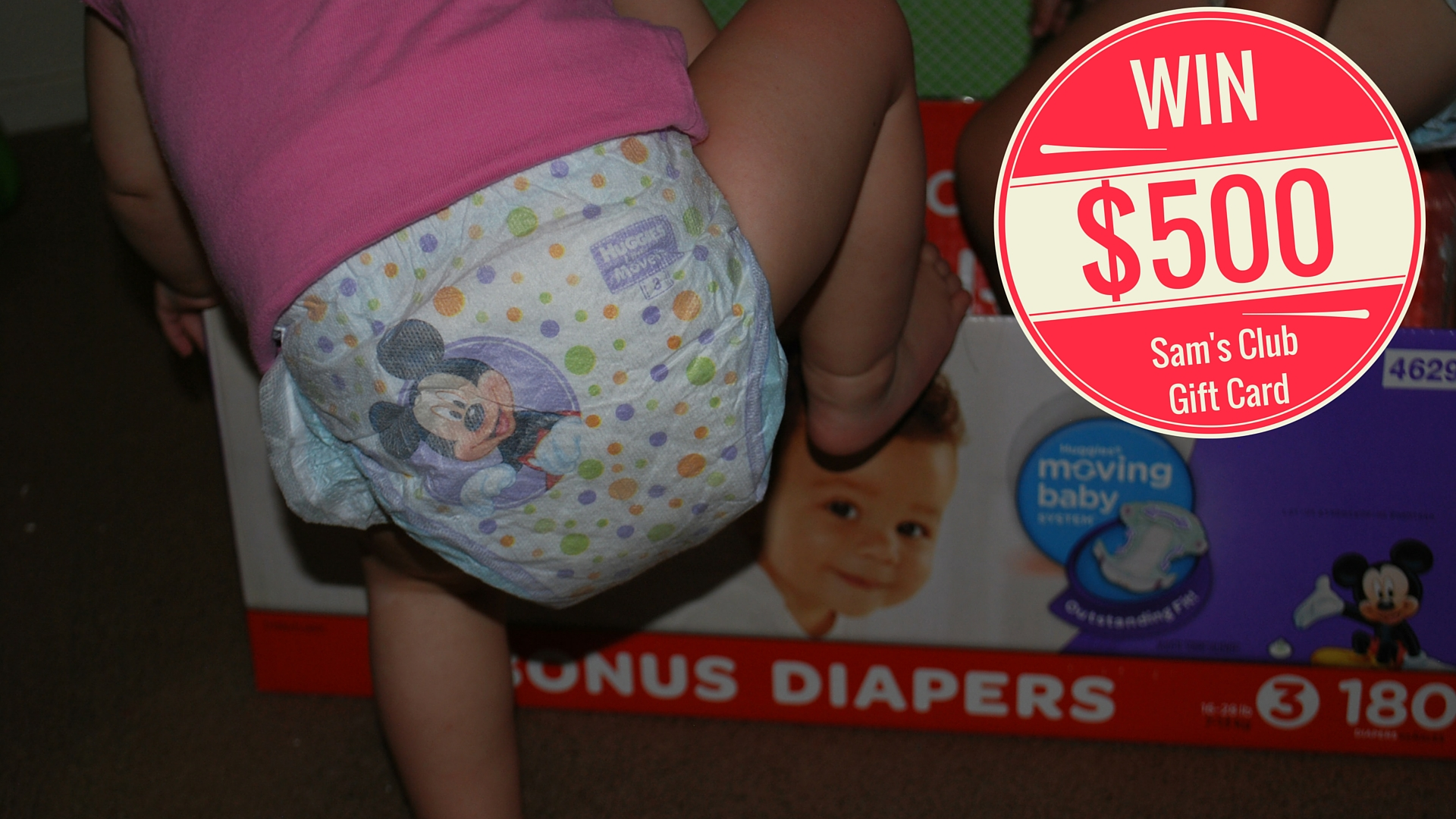 Win a $500 Sam's Club Gift Card by submitting a photo of your baby's moves! EveryMomDay.com