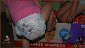 The Diaper Game with 2 Little Movers