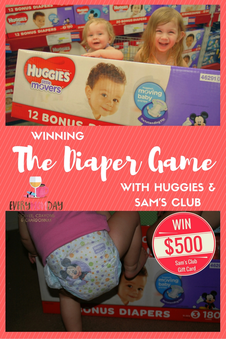 Winning the Diaper Game is easy with Sam's Club and Huggies Little Movers!