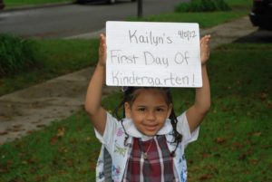 Make a sign (even a simple one) to capture the back to school memories in photos! EveryMomDay.com