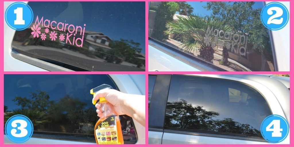 Remove Vinyl Car Decals - and the sticky residue - easily with #GooGone!  EveryMomDay.com