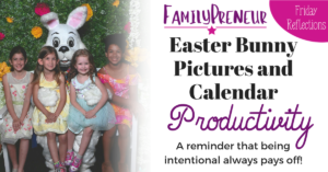 Easter Bunny Pictures and Calendar Productivity